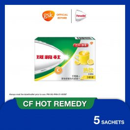 Panadol Hot Remedy, Cold and Flu, for Blocked nose, Fever and Cold, 5 sachets
