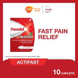 Panadol Actifast for Fast Pain Relief, 500mg,10 caplets