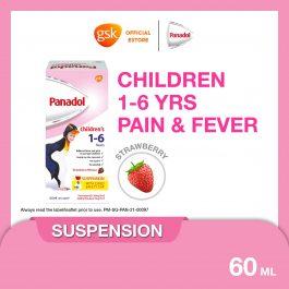 Panadol Paracetamol for Children age 1-6 yrs old, 60ml suspension