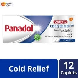 Panadol Cold Relief for Fever and Blocked Nose, 12 tablets
