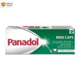 Panadol Mini Caps for Headache and Body Pain, 500mg, 12 mini caplets
