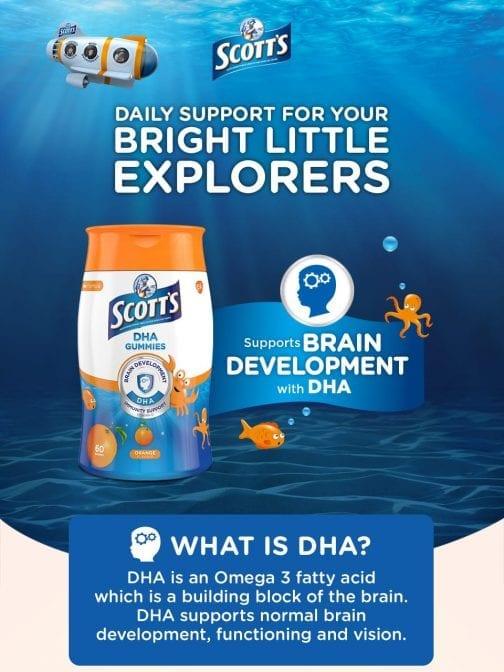 Scott's DHA Gummies Orange Flavour Brain Development