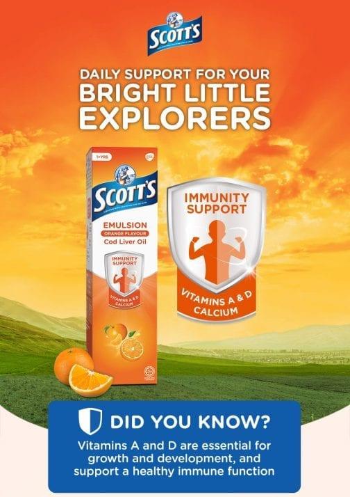 Scott's Emulsion Orange Flavour Cod Liver Oil Vitamins A&D