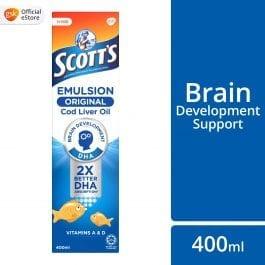 Scott's Emulsion Cod Liver Oil, Omega 3 fatty acid DHA, Children Supplement, Original, 400ml