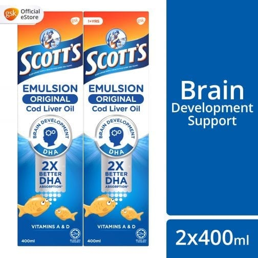 Scott's Emulsion Original Cod Liver Oil (2x400ml)