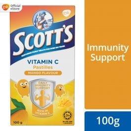 Scott's Vitamin C Pastilles, Children Supplement, Mango, 100g