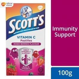 Scott's Vitamin C Pastilles, Children Supplement, Mixed Berries, 100g