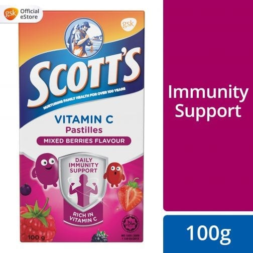 Scott's Vitamin C Pastilles Mixed Berries Flavour gsk