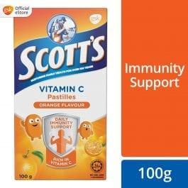 Scott's Vitamin C Pastilles, Children Supplement, Orange flavour, 100g