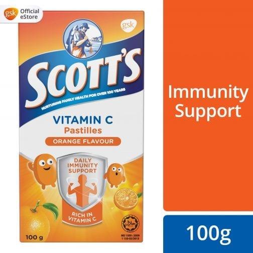 Scott's Vitamin C Pastilles Orange Flavour Nurturing Family Health