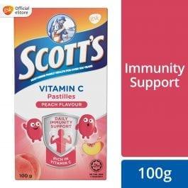 Scott's Vitamin C Pastilles, Children Supplement, Peach, 100g