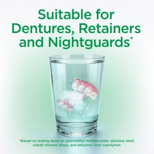 Suitable for Dentures, Retainers and Nightguards