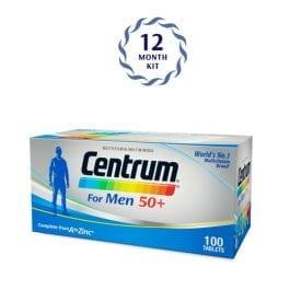 Centrum® for Men 50+ (100 tabs) 12 months package | Bundle of 6
