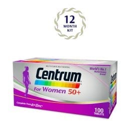Centrum® for Women 50+ (100 tabs) 12 months package | Bundle of 6